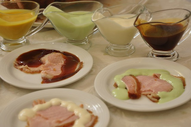 The Plaza Baked Ham with Premium Glaze and assorted dips