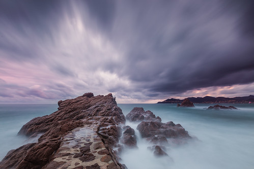 sunset seascape rock french long exposure riviera waves cloudy cannes dam nd filters nisi fstopper