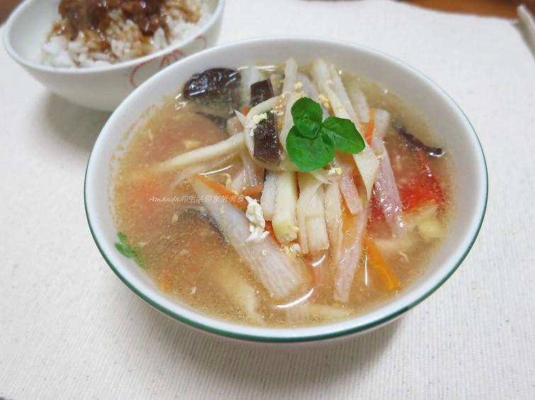 羹湯,蔬菜湯,蔬食,酸辣湯 @Amanda生活美食料理