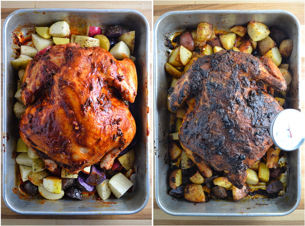 paprika and thyme roasted chicken and potatoes | things i made today