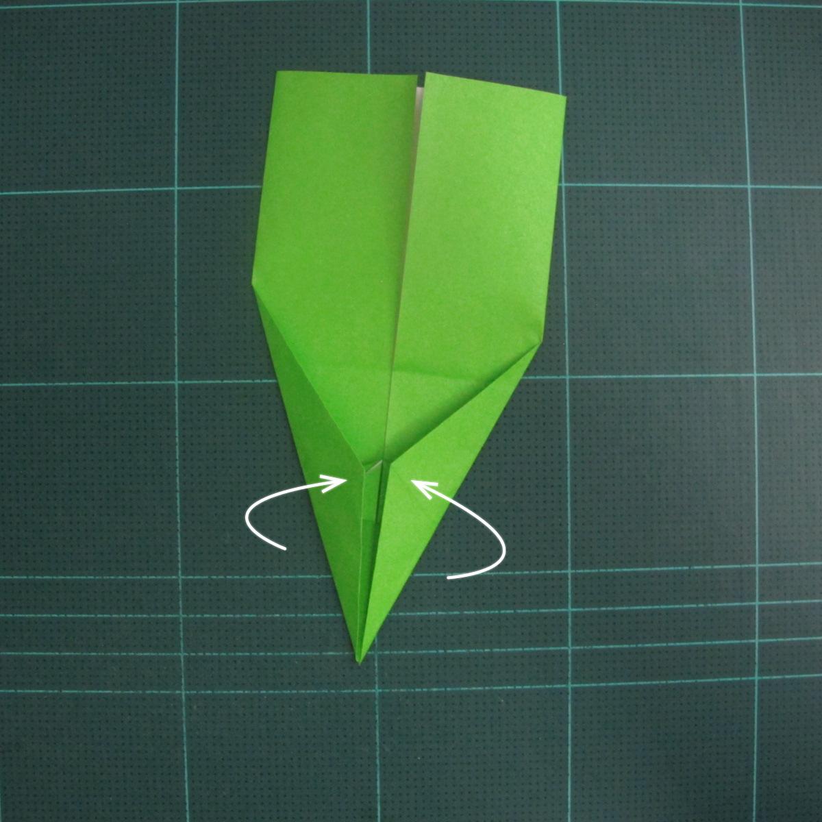 การพับกระดาษเป็นรูปแรด (Origami Rhino) 011