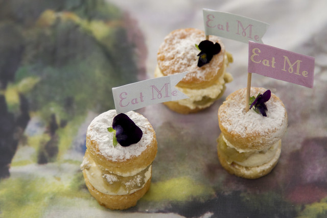 'Eat Me' Elderflower and gooseberry victoria sandwich © ROH Restaurants 2014