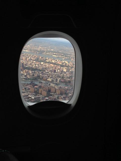 Manhattan desde el avión