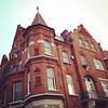 One more shot of this great corner place. #latergram #london #lookingup #architecture #hammersmith #redbrick #turret