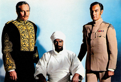 Charlton Heston, Laurence Olivier and Richard Johnson in Khartoum (1965)