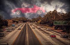 car in the clouds