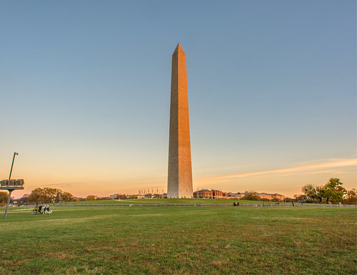 The Washington Monument Bathed in Golden Light by Geoff Livingston