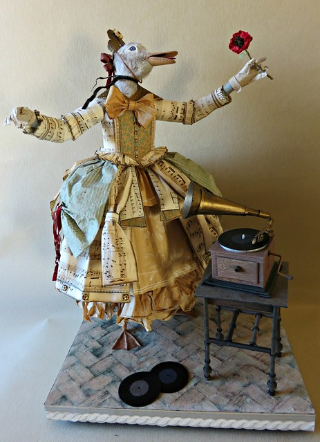 Opera Singer - Duck Paper Sculpture