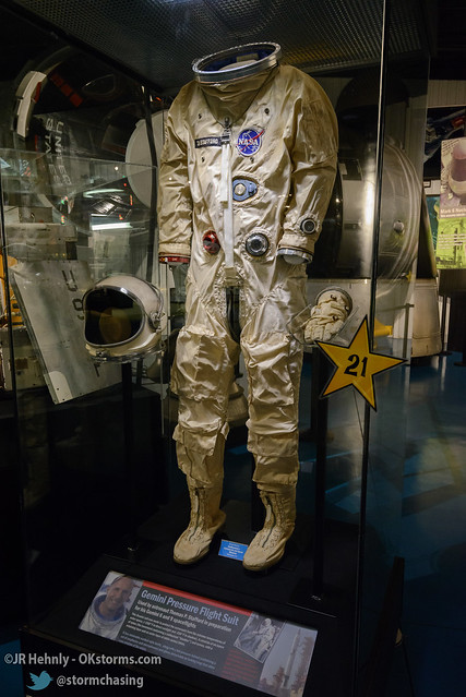 Sun, 10/26/2014 - 15:25 - Here's a Gemini pressure flight suit used by Stafford. - Stafford Air and Space Museum - October 26, 2014 3:25:29 PM - Weatherford, Oklahoma (35.5447,-98.6700)
