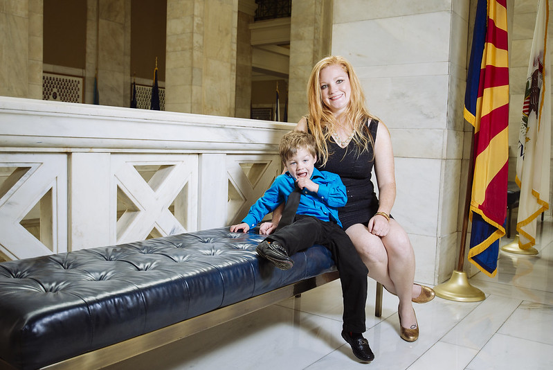 Cortney and Wyatt at Arkansas State Capitol in Little Rock by Adam Peterson of Restless Photography