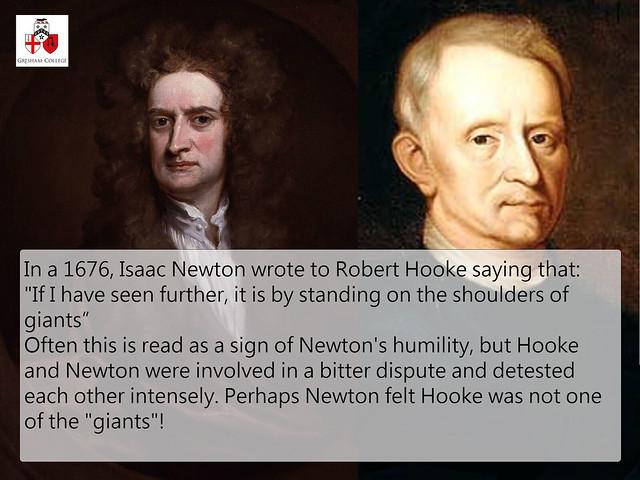 Isaac Newton & Robert Hooke: The secret to the