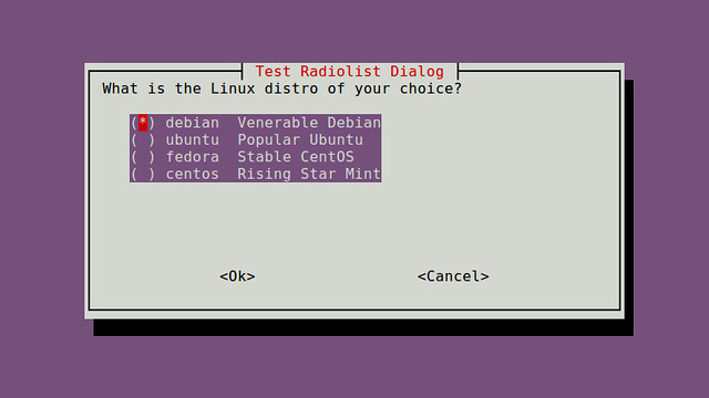 How to create dialog boxes in an interactive shell script