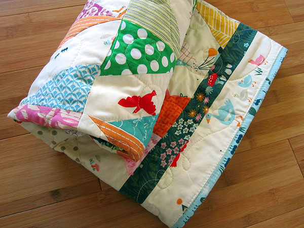 Party Pyramids baby quilt