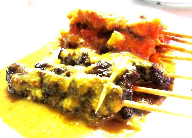 Tman Muhibah beef & pork satay with Mongolian sauce