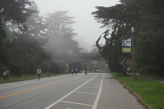 Sunny day turns foggy