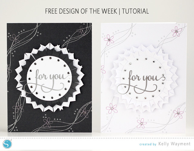 Cards Using Free Design of the Week by Kelly Wayment for Silhouette