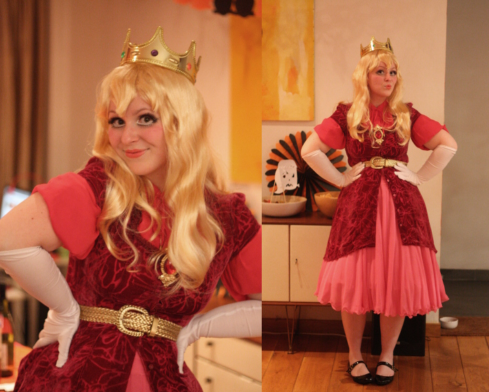 princess peach halloween costume