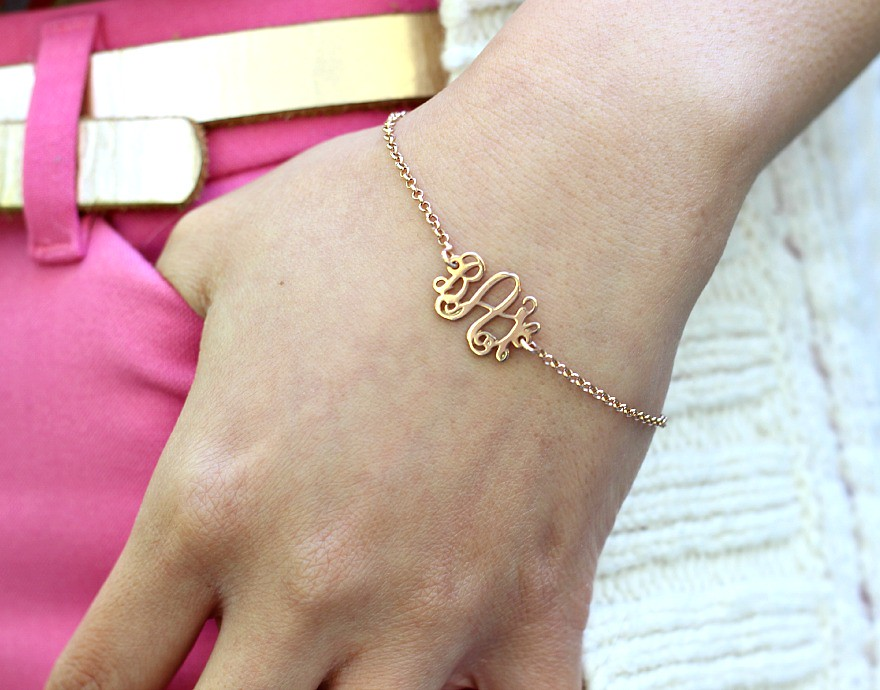 bright work outfit, office brights, work wear, style, My Name Canada, initial bracelet, Toronto Beauty Reviews