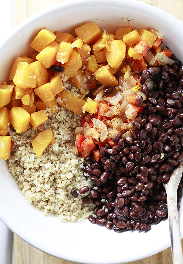 butternut quinoa beans