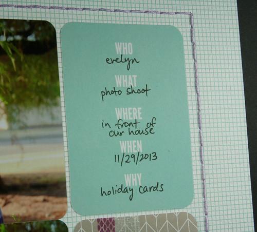 Evie 2013 Holiday Photo Scrapbook Layout | shirley shirley bo birley Blog
