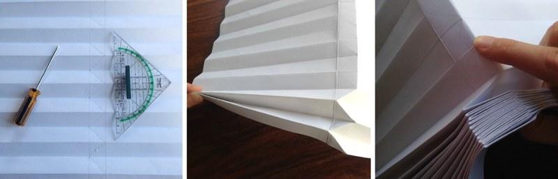 Das Origami diagonal falten