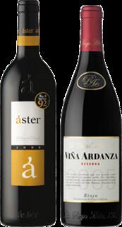 Áster crianza 2009 y Viña Ardanza 2005.