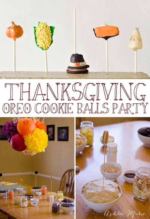 I love throwing parties where we all get to create together!  This Thanksgiving OREO cookie balls party was so much fun, you should throw one too