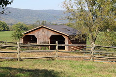 Barn with Mount Weather as the backdrop