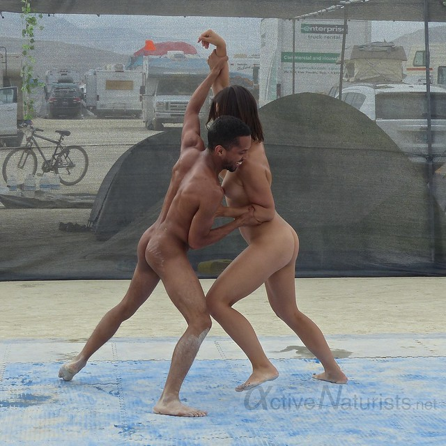 naturist wrestling camp Gymnasium 0040 Burning Man, Black Rock City, NV, USA