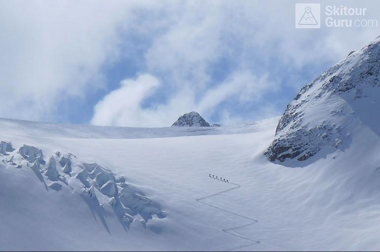 Panoramata na Haute Route Swiss Glacier