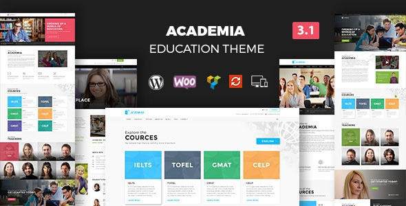 Academia v3.2.1 - Responsive Education Theme For WordPress
