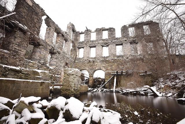 Woolen mill ruins. December 5, 2016.