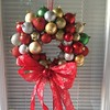 My version of the #ornamentwreath for #christmas #ilovetocreate