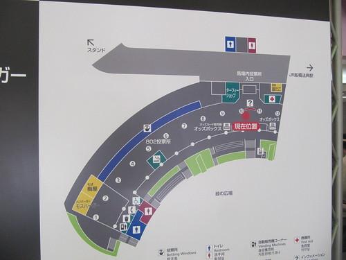 中山競馬場の福麺の位置