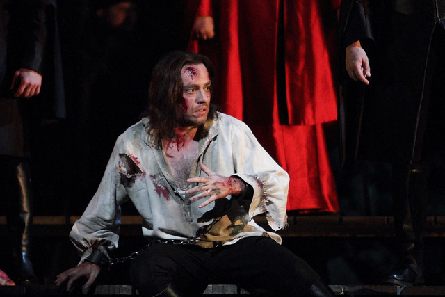 Francesco Meli in I due Foscari © ROH.Catherine Ashmore, 2014