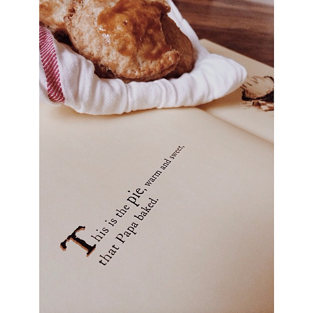 Mini apple hand pies and my favorite picture book for the fall (The Apple Pie That PaPa Baked). After four years without fall, we are making up for lost time. #applepie #kidscancook #expatlife #fall #autunno