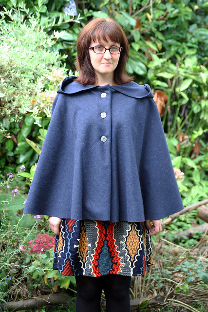Blue Wool Fairy Tale Cape