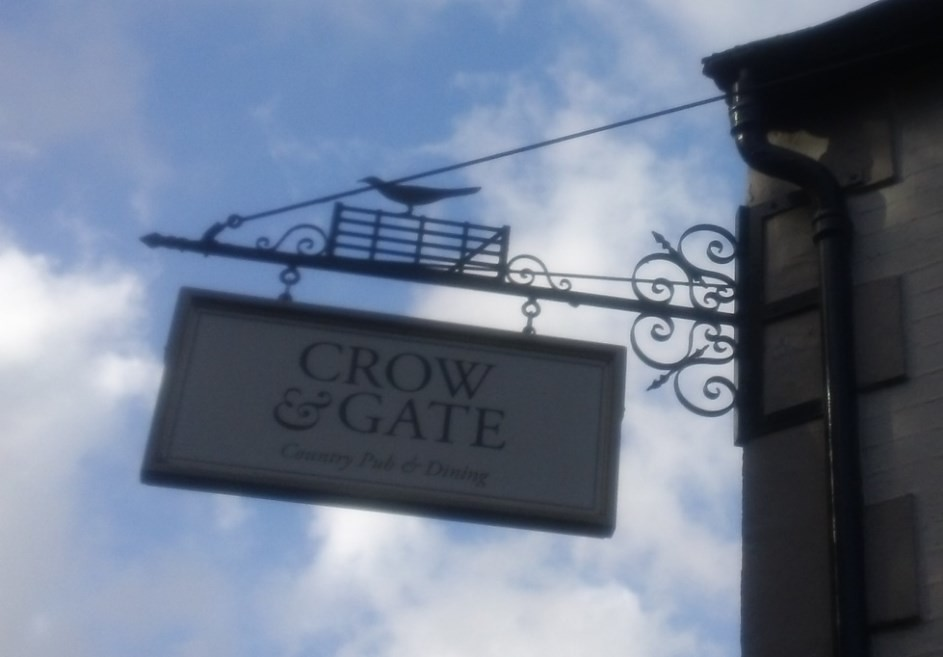 not 'Cow & Gate'... but 'Crow & Gate'...