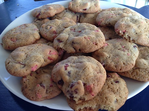 Cookies pralines roses et canneberges