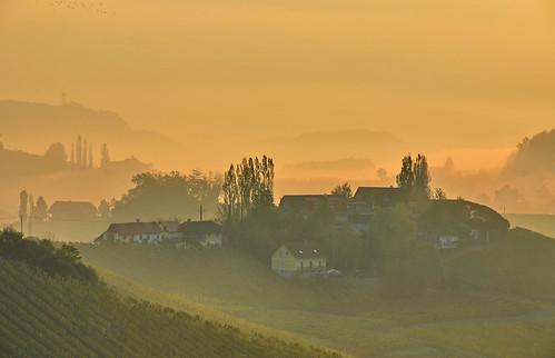morning sunrise landscape austria nikon styria