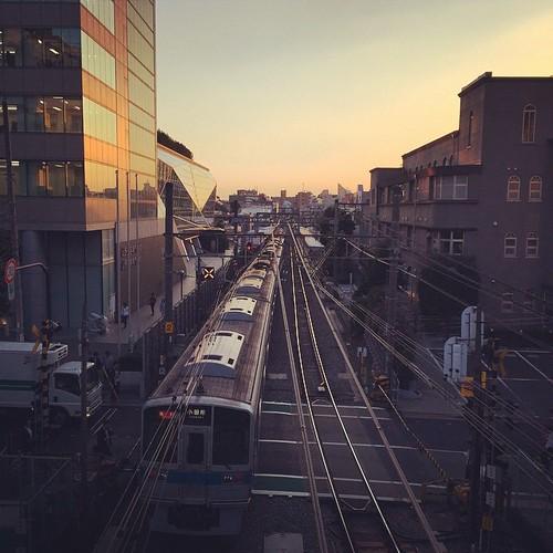 綺麗な夕焼け。 渋谷へ寄り道〜。