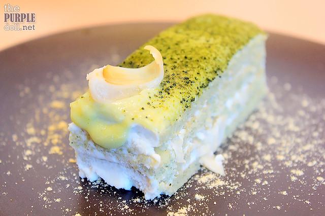 Matcha Lychee Almond Cake (P210)