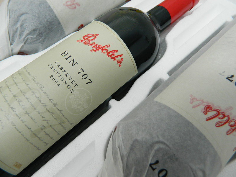 Penfolds 'Bin 707' Cabernet Sauvignon 2004 (Cork Closure/Tissue Wrapped)