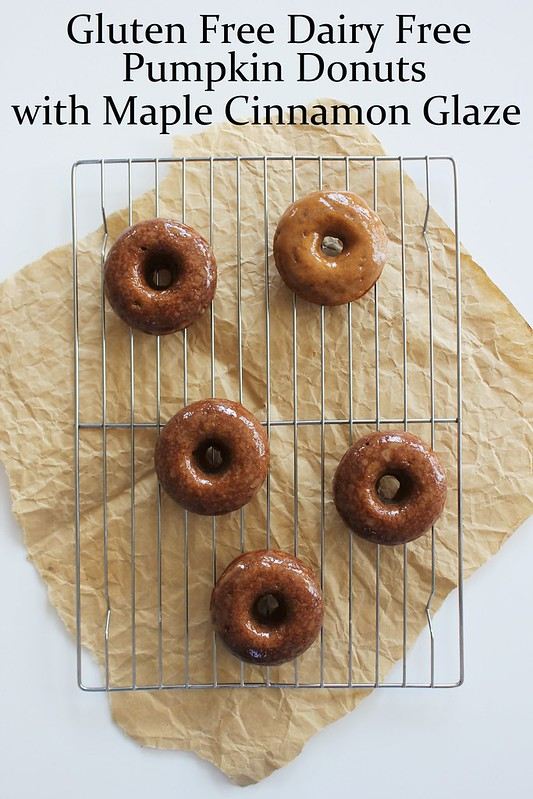 ... Bakes: Gluten Free Dairy Free Pumpkin Donuts with Maple Cinnamon Glaze