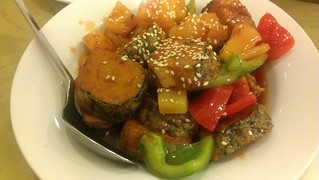 Sweet & Sour Pan-Fried Nori Tofu Roll at Green Gourmet