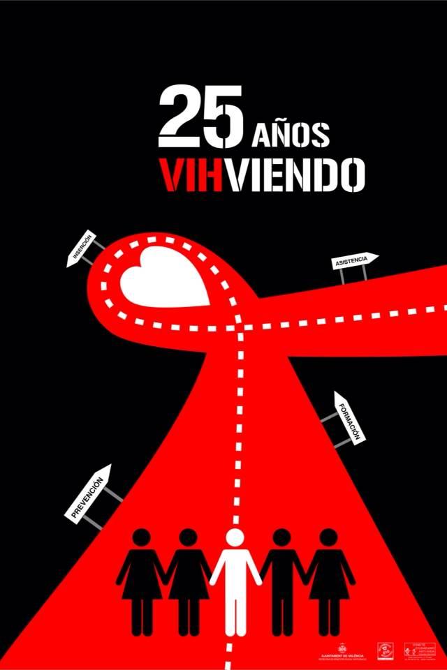 cartel aniversario 25 años sontra el sida