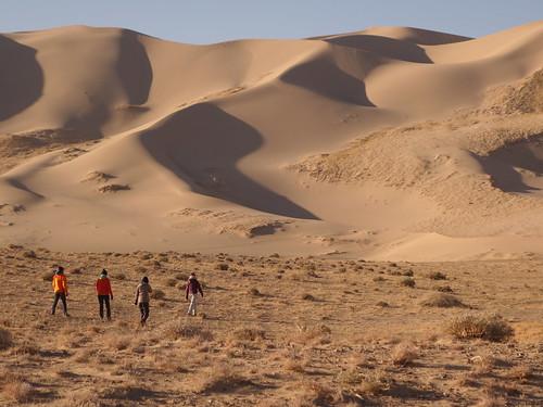 En chemin vers les dunes
