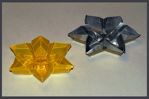 Origami Hexagon Flower Container (David Martínez)