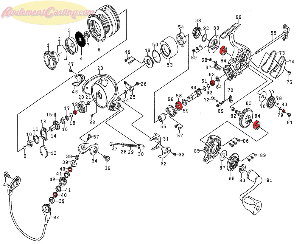 Schéma Daiwa Certate 2004CH Hi Gear Custom