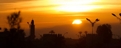 sunrise marrakech marokko